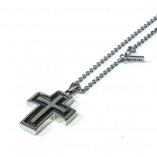Steel Cross Halsketting
