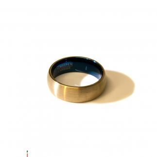 Gold and blue tungsten ring